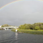 Rainbow over Enniskillen moorings