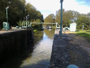 One of the locks on the Roanne canal