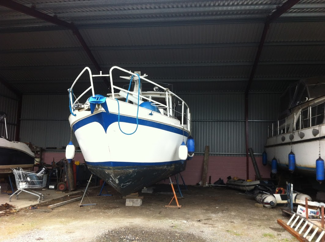 Ready for painting the boat