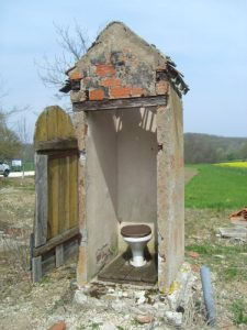 Toilet on the canal