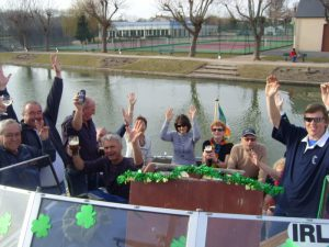 St Patrick's Day on the boat